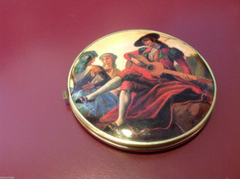Ladies double mirrored compact with two side images renaissance scenes image 4