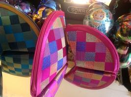 Ladies petite clutch set 2 w satin pattern fan nesting perfect 4 luncheons image 5