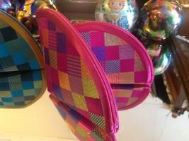 Ladies petite clutch set 2 w satin pattern fan nesting perfect 4 luncheons image 7