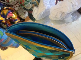 Ladies petite clutch set 2 w satin pattern fan nesting perfect 4 luncheons image 9