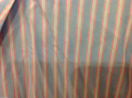 Lands End Light Blue Pink White Striped Dress Shirt, Size 16/34 image 5