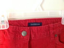 Lands End Red Corduroy Pants 2 Front Pockets 2 Back Pockets Size 10 image 2
