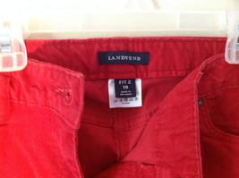 Lands End Red Corduroy Pants 2 Front Pockets 2 Back Pockets Size 10 image 3