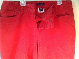 Lands End Red Corduroy Pants 2 Front Pockets 2 Back Pockets Size 10 image 4