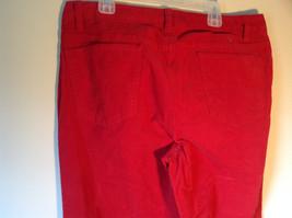 Lands End Red Corduroy Pants 2 Front Pockets 2 Back Pockets Size 10 image 5