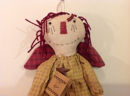 Large Angel Plush Doll by Primitives Designer Kari Emerson Red Brown Black image 4