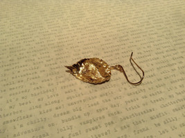 Large 14K Gold Plated Leaf Earrings With Sterling Silver Base 1 Micron Handmade image 5