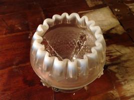 Milk Glass Bowl Depression Short Stem fluted image 5