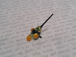 Micro miniature small hand blown  yellow banded hummingbird  USA  NIB image 3