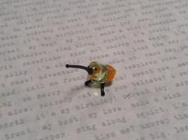 Micro miniature small hand blown  yellow banded hummingbird  USA  NIB image 5