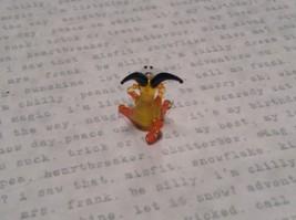 Micro miniature small hand blown yellow sitting goat  USA  NIB image 4