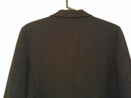 Milano Black Size 11 to 12 Lined Blazer 3 Button Closure Decorative Pockets image 4