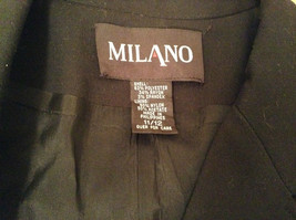 Milano Black Size 11 to 12 Lined Blazer 3 Button Closure Decorative Pockets image 7