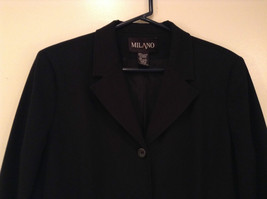 Milano Black Size 11 to 12 Lined Blazer 3 Button Closure Decorative Pockets image 2