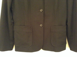 Milano Black Size 11 to 12 Lined Blazer 3 Button Closure Decorative Pockets image 3
