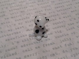Miniature small hand blown glass dalmatian puppy made USA NIB image 2