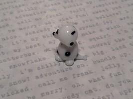 Miniature small hand blown glass dalmatian puppy made USA NIB image 4