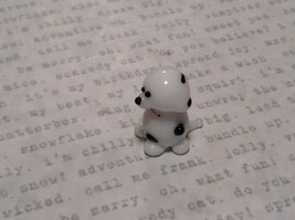 Miniature small hand blown glass dalmatian puppy made USA NIB image 5