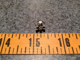 Miniature small hand blown glass black white comical panda bear made USA NIB image 6
