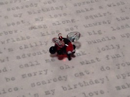 Miniature small hand blown glass cute funny red bug clear wings made USA NIB image 4