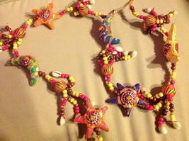 Large Festival Crescent Moon Stars Strand w Beads and Bell String Connector image 8