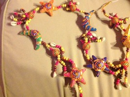 Large Festival Crescent Moon Stars Strand w Beads and Bell String Connector image 6