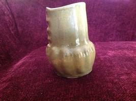 Large Green Handmade Ceramic Vase Six Inches High image 3