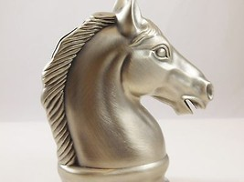 Pewter Childs Bank Shaped like a Stallion Head  - $28.99