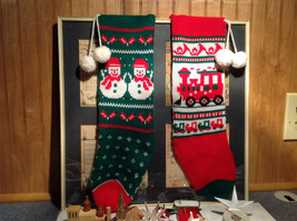 Large Grandma Instant Christmas Lot Two Stockings Many Ornaments AS SHOWN image 4