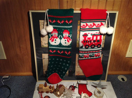 Large Grandma Instant Christmas Lot Two Stockings Many Ornaments AS SHOWN image 2