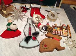 Large Grandma Instant Christmas Lot Two Stockings Many Ornaments AS SHOWN image 6