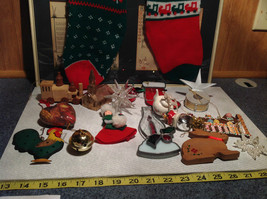 Large Grandma Instant Christmas Lot Two Stockings Many Ornaments AS SHOWN image 3
