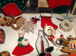 Large Grandma Instant Christmas Lot Two Stockings Many Ornaments AS SHOWN image 7