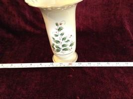 Large Japanese Made Vase with Berries Vines Interesting Design Gold Tone Rim image 5