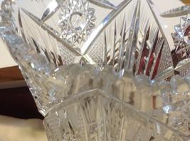 Large Lead  Crystal vase vintage American Brilliant image 8