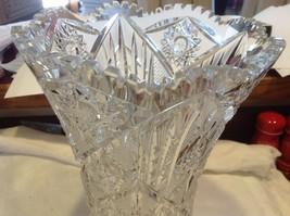 Large Lead  Crystal vase vintage American Brilliant image 11