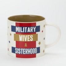 Military Wives - A sisterhood - mug red white and blue image 2