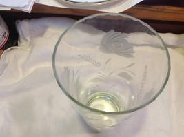 Large cut glass copper wheel flower pattern vintage vase from estate image 6