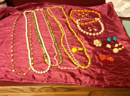 Large set of costume necklaces, earrings and a chain image 2