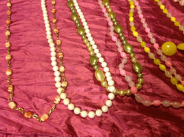 Large set of costume necklaces, earrings and a chain image 6