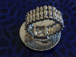 Large resin Abalone antique inspired silver cabuchon statement ring one size image 3