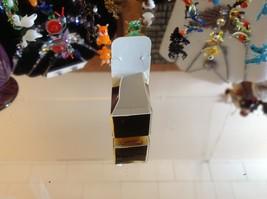 Miniature small hand blown glass light yellow horned owl blue wings made USA NIB image 8