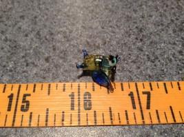 Miniature small hand blown glass light yellow horned owl blue wings made USA NIB image 7