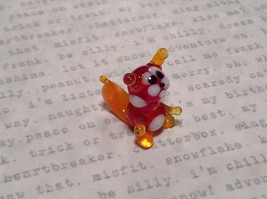 Miniature small hand blown glass red squirrel made USA NIB image 2