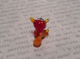 Miniature small hand blown glass red squirrel made USA NIB image 5