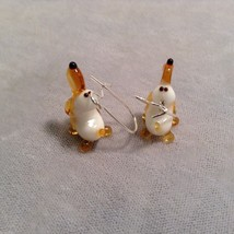 Miniature small hand blown glass made USA NIB basset hound dog earrings image 3