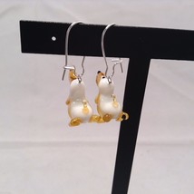 Miniature small hand blown glass made USA NIB basset hound dog earrings image 4