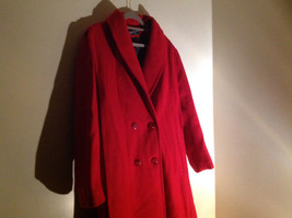 Miss New Yorker Full Length Red Double Breasted Peacoat Front Pockets Size S/M image 4