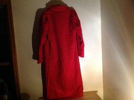 Miss New Yorker Full Length Red Double Breasted Peacoat Front Pockets Size S/M image 6
