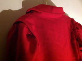 Miss New Yorker Full Length Red Double Breasted Peacoat Front Pockets Size S/M image 5